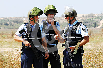 Полиция Израиля Редакционное Стоковое Изображение