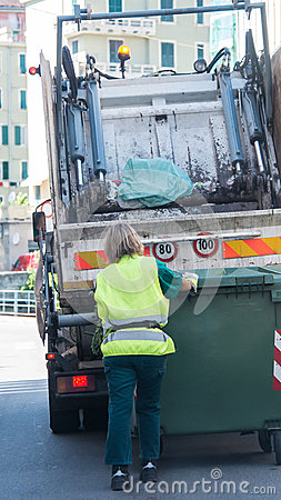 都市回收的废物和垃圾服务 图库摄影片