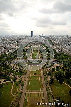 Εναέριο πανόραμα του Παρισιού