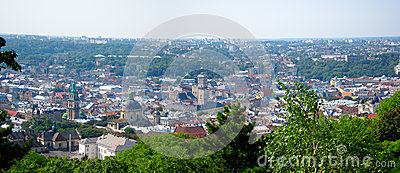 Панорама Львова, Украина