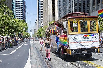 Гей-парад Сан-Франциско Редакционное Стоковое Фото