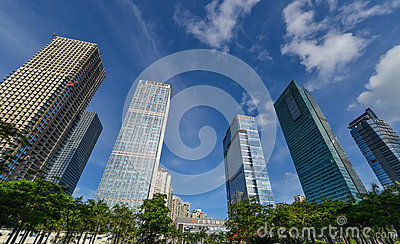 Многоэтажные здания Редакционное Стоковое Изображение