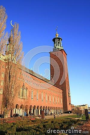 Здание муниципалитет Стокгольма