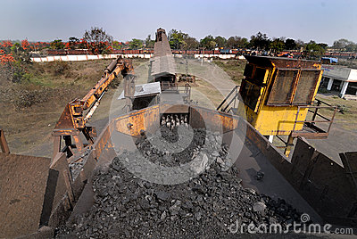 Уголь Индия Редакционное Фото