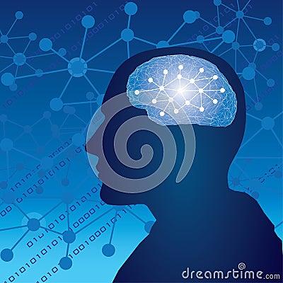 Думать человека мозга