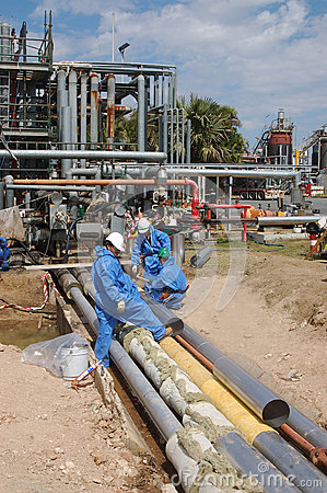 炼油厂工作者 编辑类照片