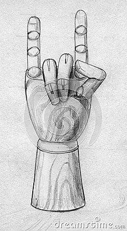 Ξύλινη υπογραφή χεριών μανεκέν