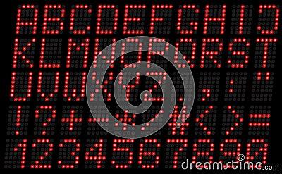 字母表,大写红色