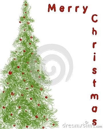 背景圣诞树