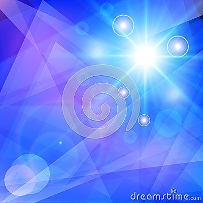 抽象蓝色几何背景。