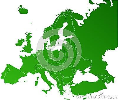 вектор карты европы