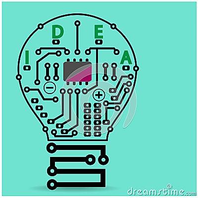 创造性的电灯泡标志