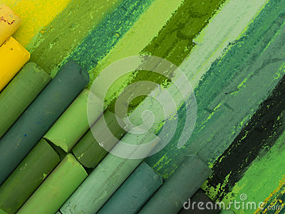 Πράσινα καλλιτεχνικά κραγιόνια