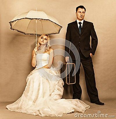 已婚夫妇问题,冷漠消沉龃龉 图库摄影 - 图片: 3