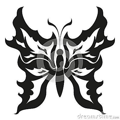 黑白蝴蝶.纹身花刺设计