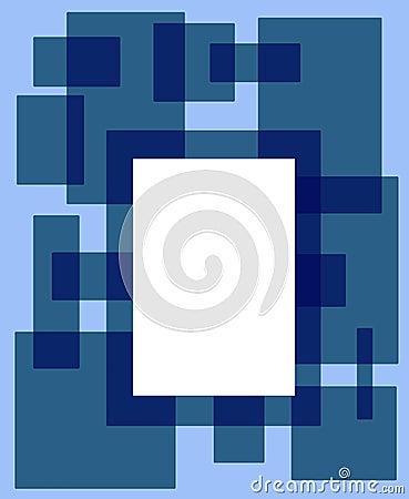 蓝色框架绿色长方形