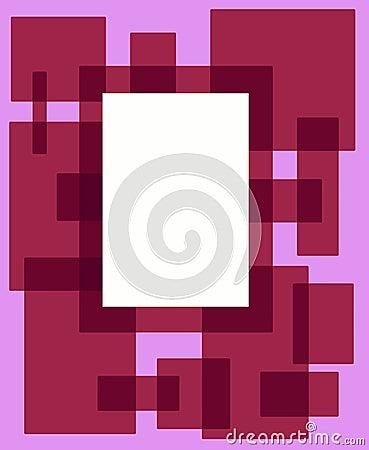 框架桃红色长方形红色