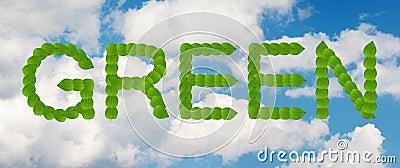绿色天空概念
