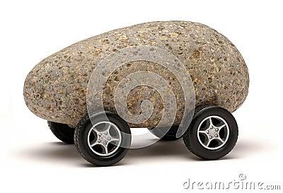 ρόδες τεχνολογίας βράχο