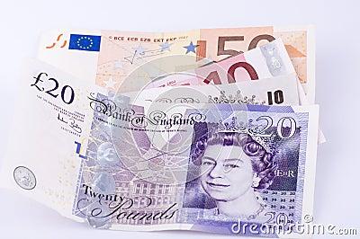 Валюта Редакционное Стоковое Изображение