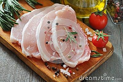 未加工的猪肉