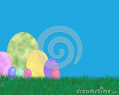 背景复活节彩蛋
