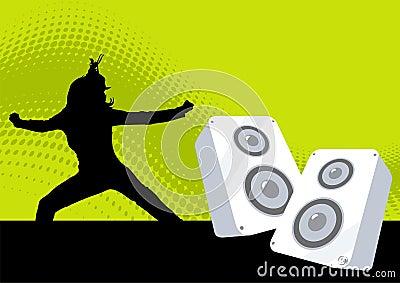 иллюстрация диско ретро