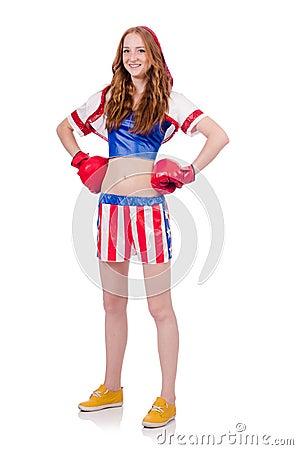 妇女拳击手
