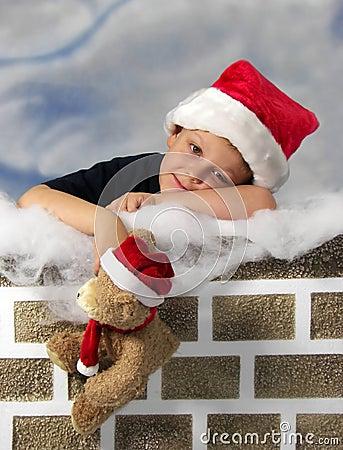 圣诞老人等待