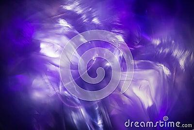 抽象轻的结冰背景,蓝色不可思议的分数维