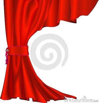 κόκκινο βελούδο κουρτινών