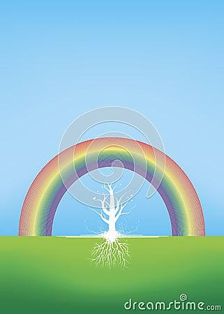 красивейшая радуга укореняет вал