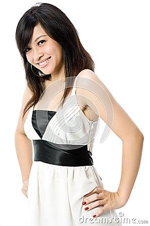 λευκό εφήβων φορεμάτων