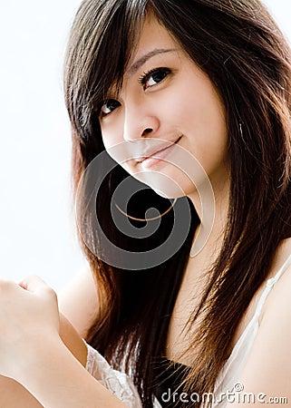 азиатская девушка