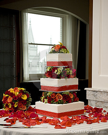 венчание торта букета