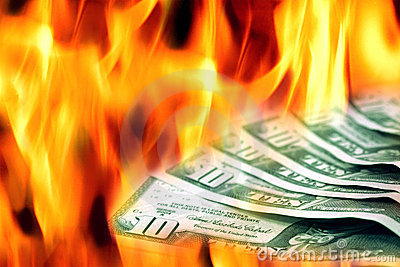 деньги ожога к