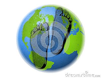 резюмируйте следы ноги земли углерода