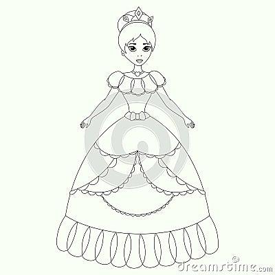 美丽的公主,彩图页,孩子的传染媒介例证.图片