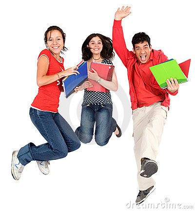 счастливые студенты