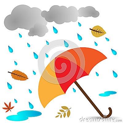 秋天启动雨衣橡胶主题伞图片