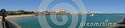 旅馆的海滩全景