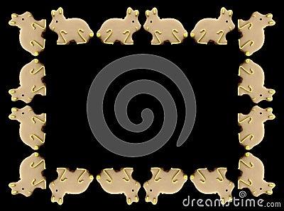 рамка пасхи зайчиков