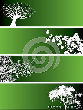 πράσινη φύση εμβλημάτων