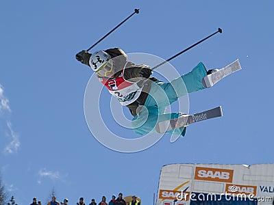 半管道滑雪 图库摄影片