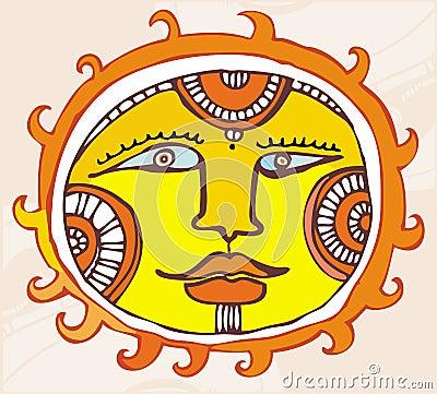 εθνικός ήλιος στοιχείων σχεδίου