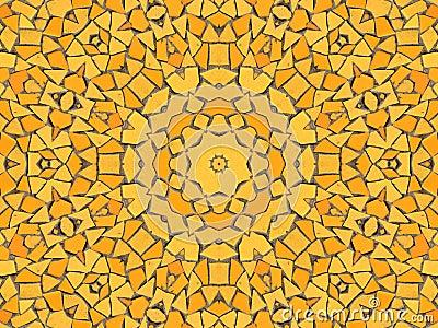 马赛克黄色图片
