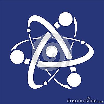 抽象科学原子的象或标志.