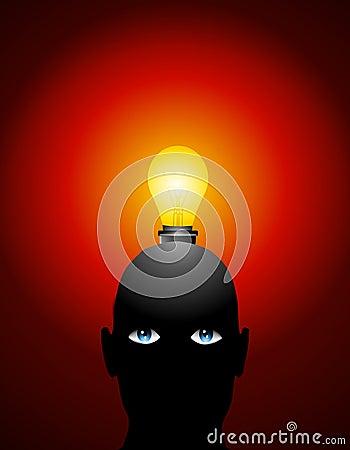 大顶头想法电灯泡