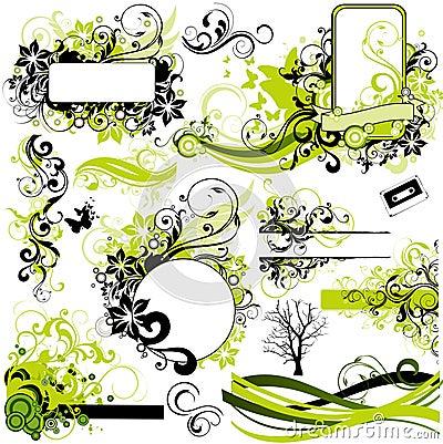 элементы конструкции флористические