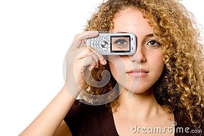 телефон глаза